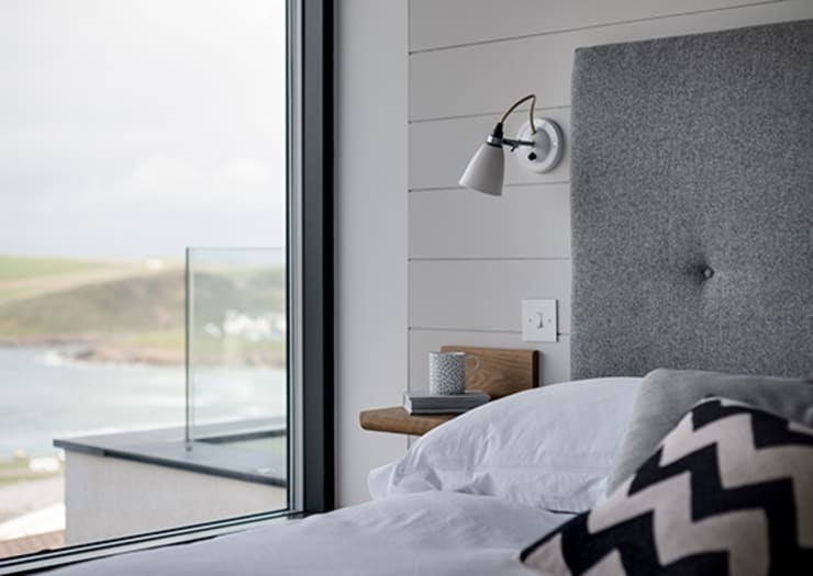 New Contemporary House, Polzeath, Cornwall: modern Bedroom by Arco2 Architecture Ltd