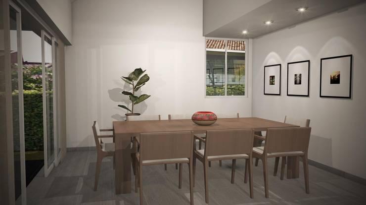 Casa Mirador de la Umbria: Comedores de estilo  por Spatium Arquitectura, Moderno