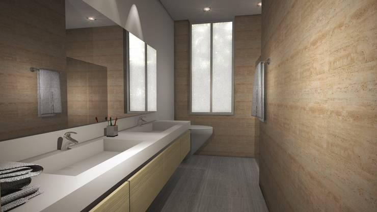 Casa Mirador de la Umbria: Baños de estilo  por Spatium Arquitectura, Moderno