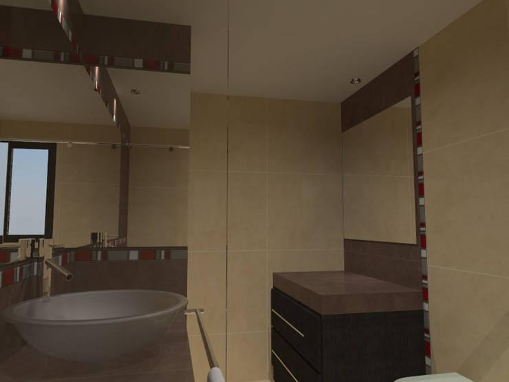 Casa AC-FRED:  de estilo  por Tres Octavos Estudio de Arquitectura,