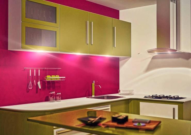 Trabajos de Samuel Mendoza: Cocinas de estilo moderno por Laboratorio 3d