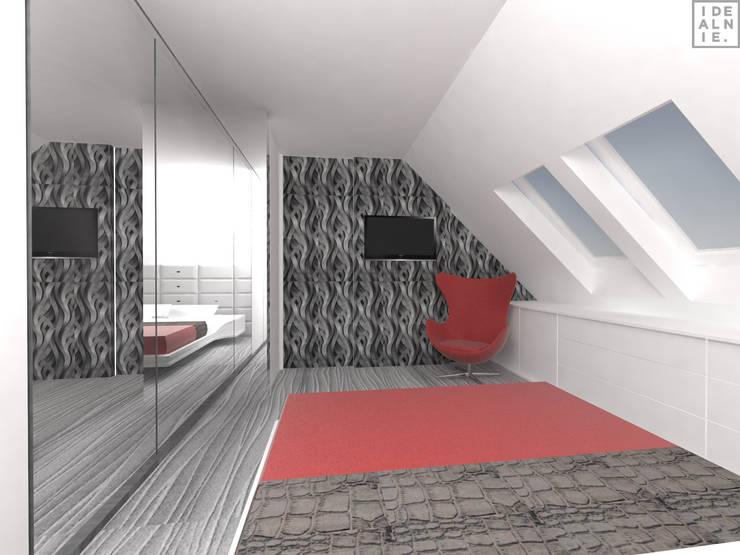 IDEALNIE Pracownia Projektowa:  tarz Yatak Odası,