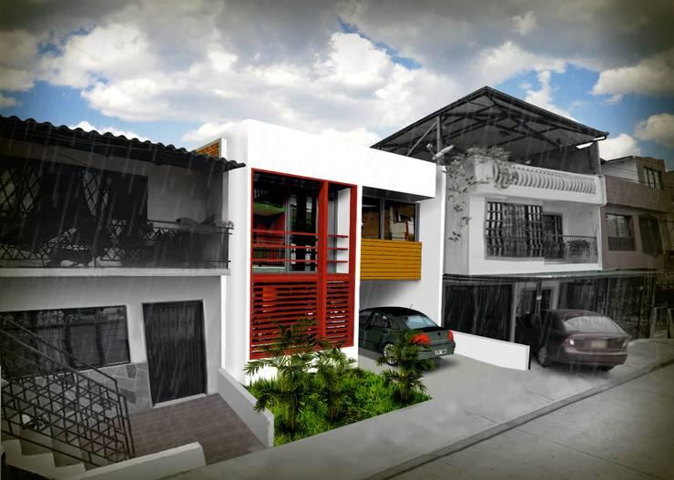 Trabajos realizados: Casas de estilo moderno por Jesús Ospina Arquitecto