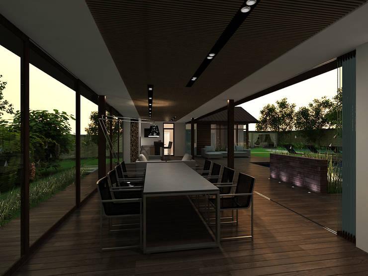 Tерраса в . Автор – A-partmentdesign studio
