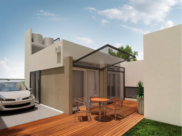 Casa MZ: Terrazas de estilo  por LATERAL Arquitectos