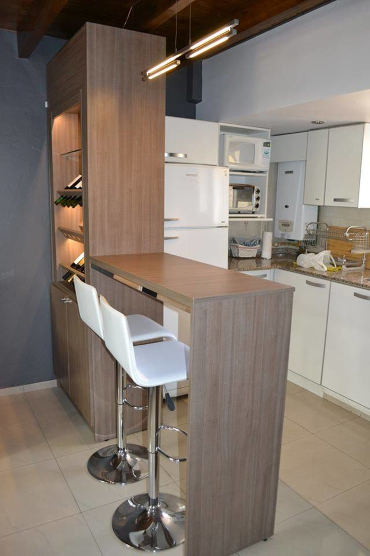 Muebles para Loft: Comedores de estilo  por dis.noeliabeltrame