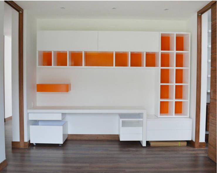 Acabados Arquitectónicos Casa Maguey: Habitaciones de estilo moderno por SINC