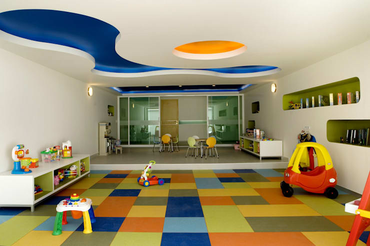 modern Nursery/kid's room by ARCO Arquitectura Contemporánea