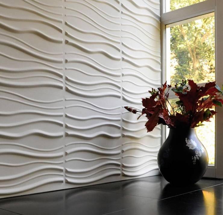 Muestras de paredes Bioamigables: Paredes de estilo  por Slendy Plata - Interior Desing