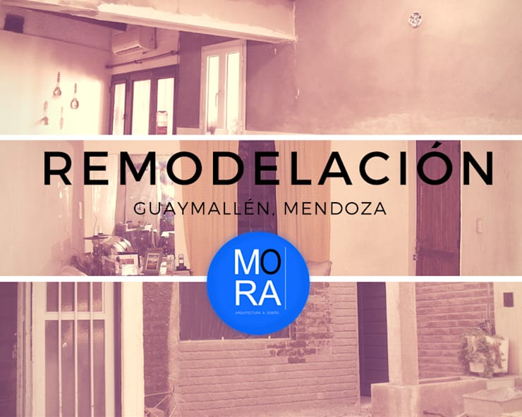 Remodelación de casa y fachada de Mora Arquitectura y Diseño Moderno