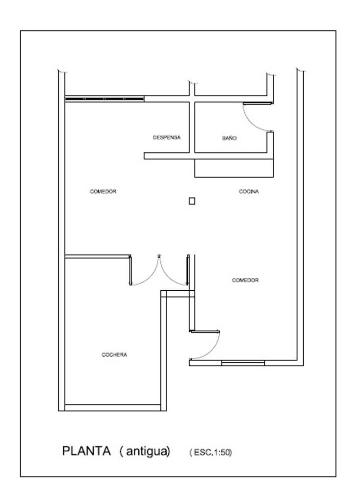 Plano planta antigua de Mora Arquitectura y Diseño Moderno