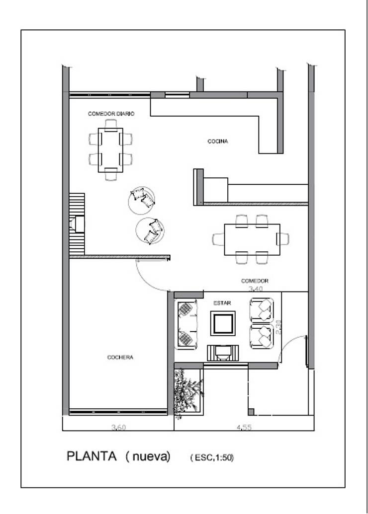 Plano planta nueva de Mora Arquitectura y Diseño Moderno