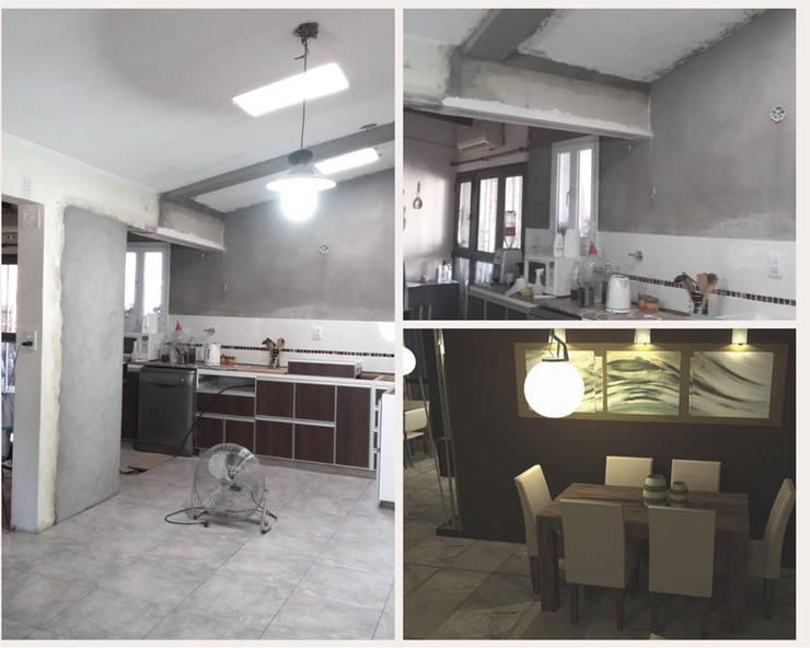 Interior proyecto y proceso de Mora Arquitectura y Diseño Moderno