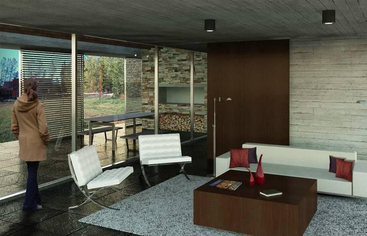 Living room by Teje Estudio, Modern