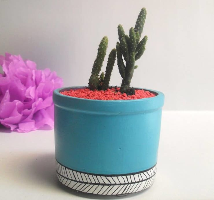 Matero azul:  de estilo  por Azul Bondí, Rústico Cerámica