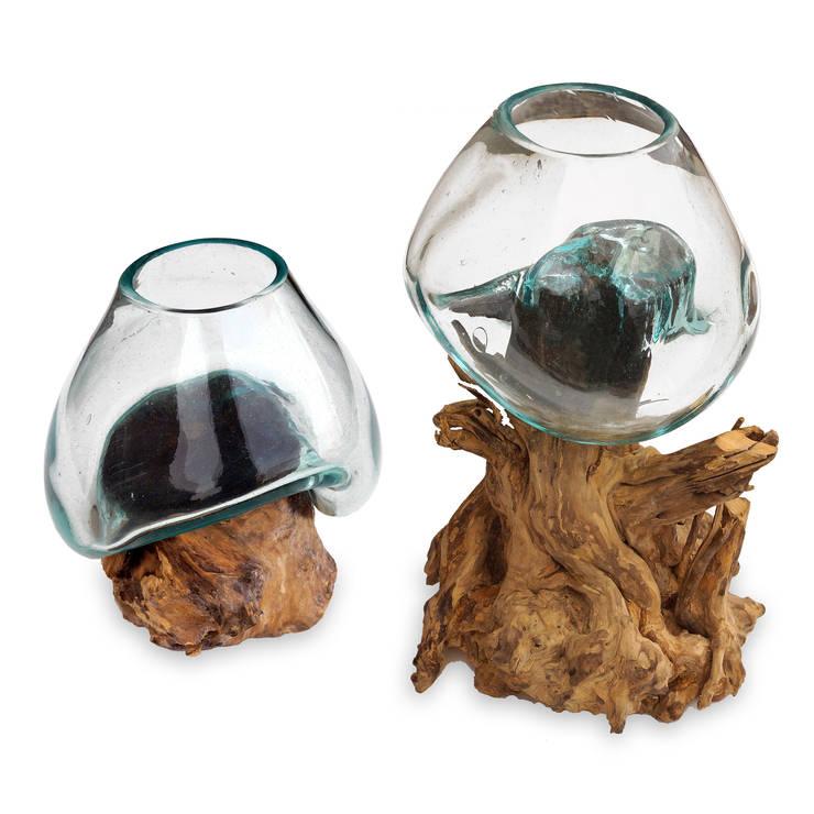 maritime inspiration vasen aus glas und wurzelholz von guru shop homify. Black Bedroom Furniture Sets. Home Design Ideas