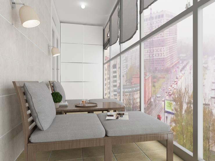 Визуализация: квартира в Петербурге : Tерраса в . Автор – OK Interior Design