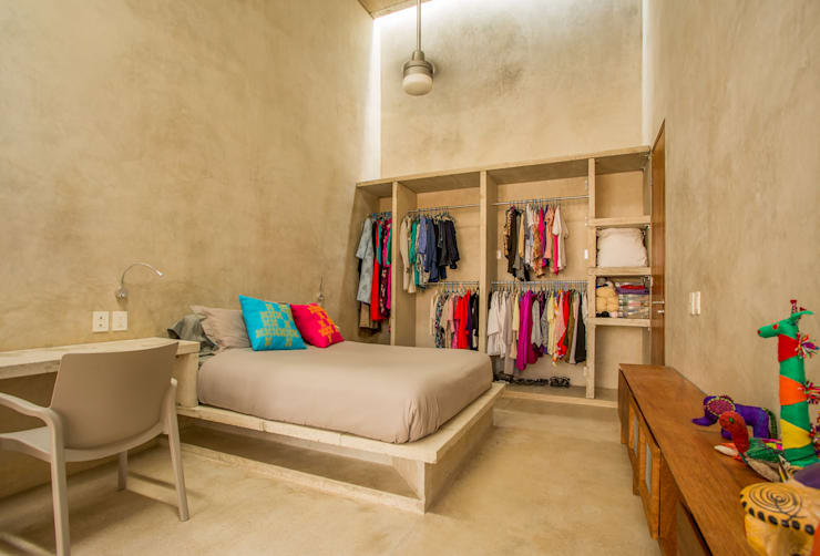 غرفة نوم تنفيذ TACO Taller de Arquitectura Contextual
