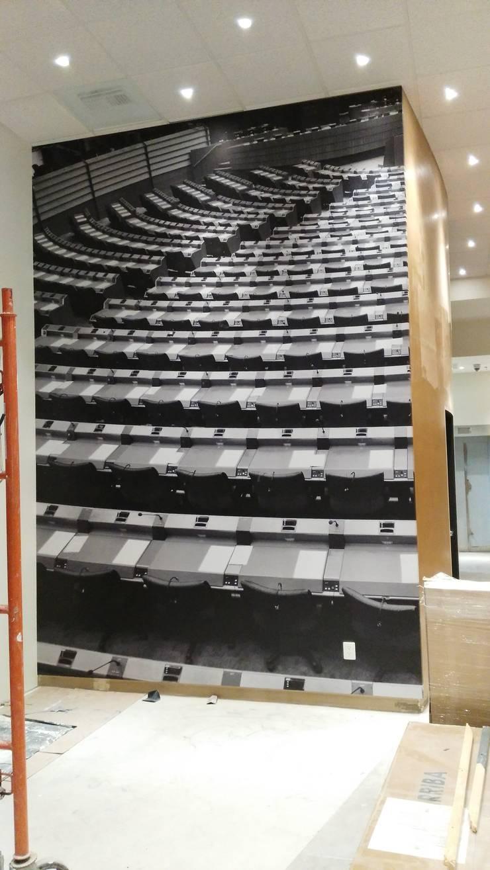 wall paper: Salas de estilo  por Magic Pop De México