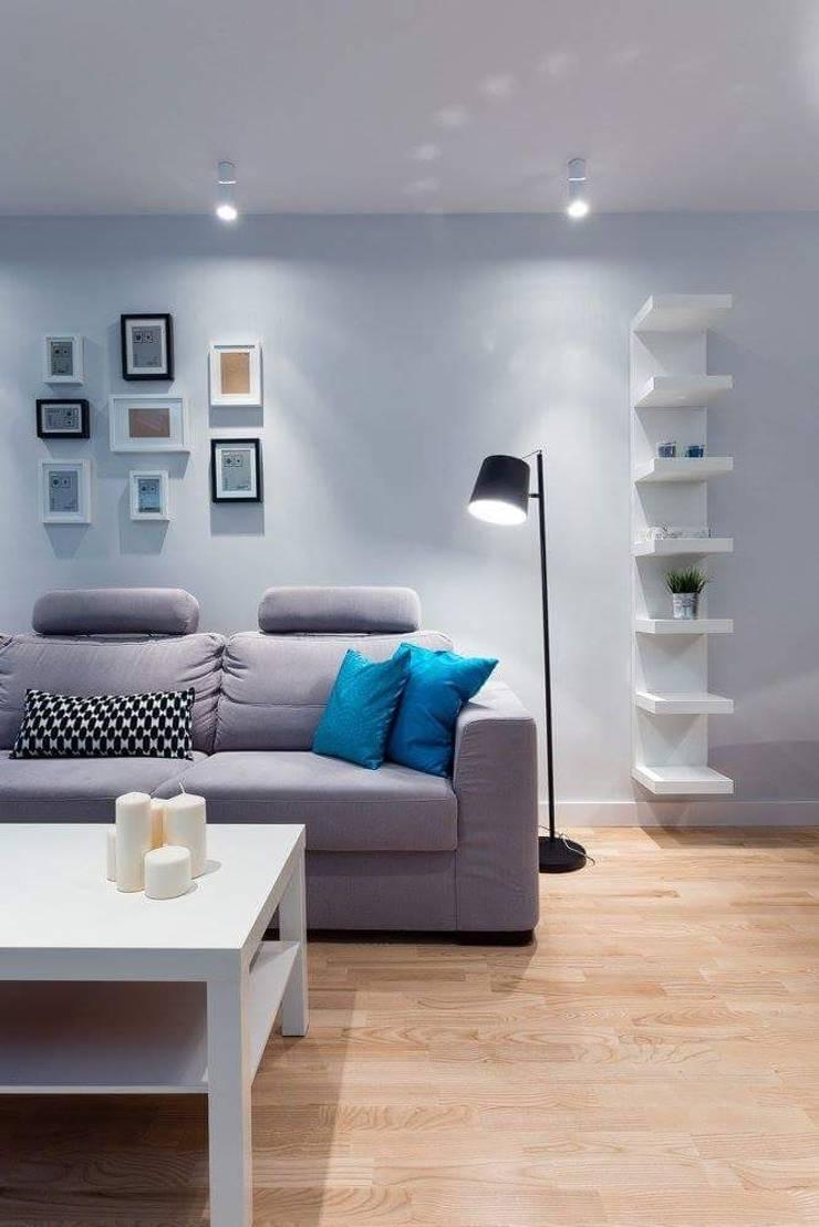 Apartament Rzeszów : styl , w kategorii Salon zaprojektowany przez Leo Minor ,Nowoczesny