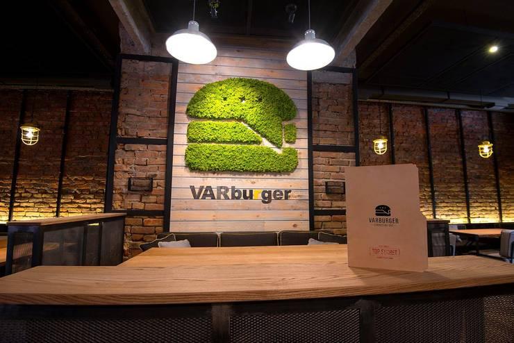 Logo z mchu Moss Trend, VARburger bar, Ukraina: styl , w kategorii Jadalnia zaprojektowany przez BandIt Design