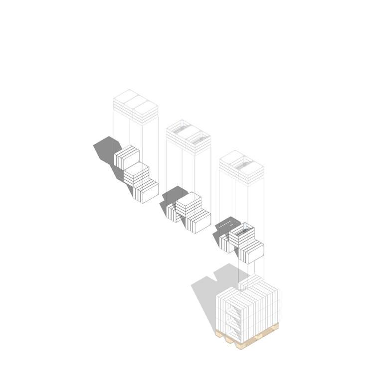 esquema axionométrico modular:   por coletivo FAVA