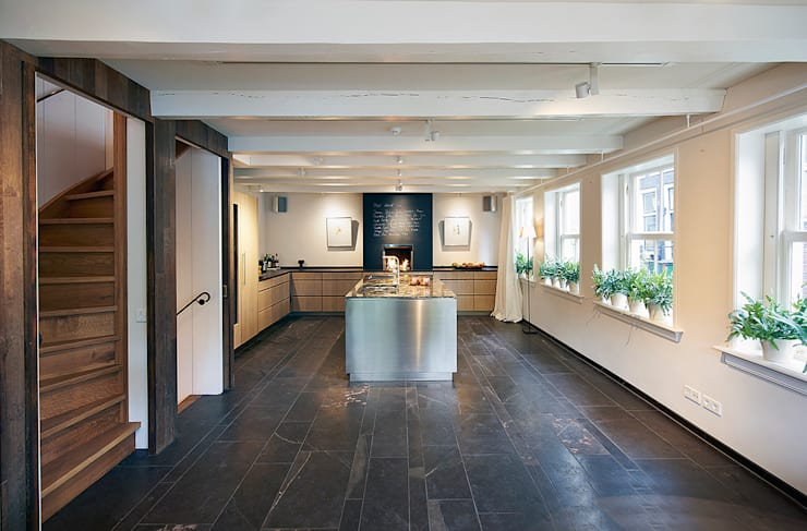 Herengracht bel-étage:  Keuken door Architectenbureau Vroom