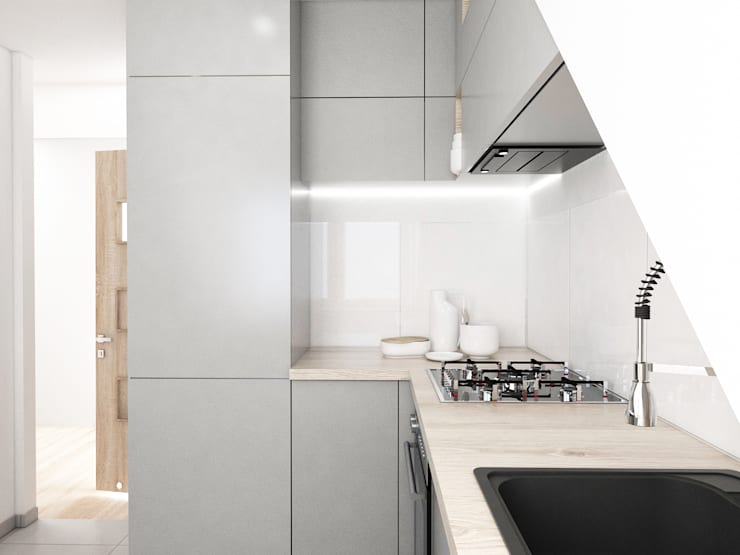 Mieszkanie Gliwice: styl , w kategorii Łazienka zaprojektowany przez FOORMA Pracownia Architektury Wnętrz,Nowoczesny