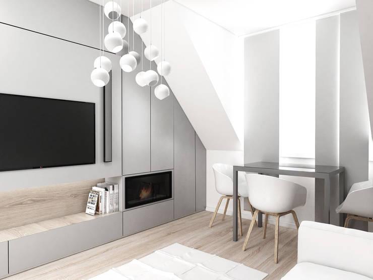 Mieszkanie Gliwice: styl , w kategorii Salon zaprojektowany przez FOORMA Pracownia Architektury Wnętrz,Nowoczesny