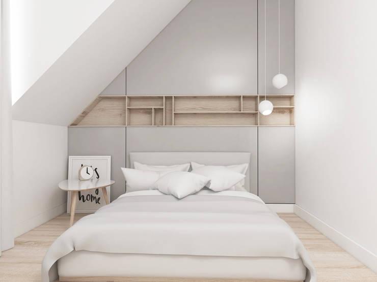 Mieszkanie Gliwice: styl , w kategorii Sypialnia zaprojektowany przez FOORMA Pracownia Architektury Wnętrz,Nowoczesny