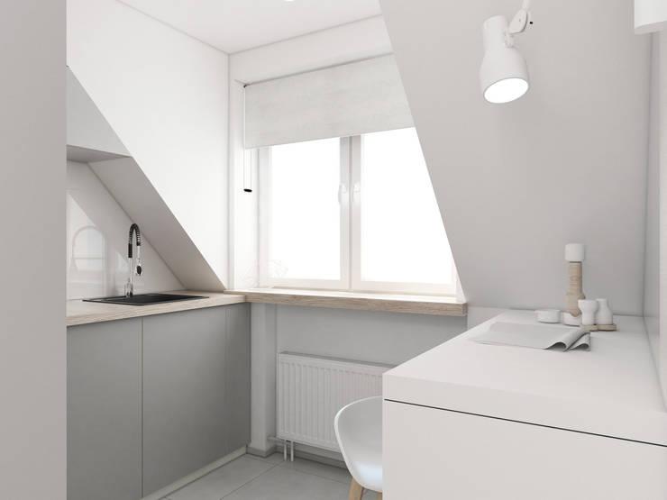 Mieszkanie Gliwice: styl , w kategorii Kuchnia zaprojektowany przez FOORMA Pracownia Architektury Wnętrz,Nowoczesny