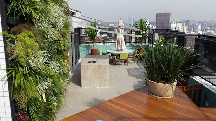 Jardins  por Bruno Carettoni Arquitetura Paisagística & Ecodesign