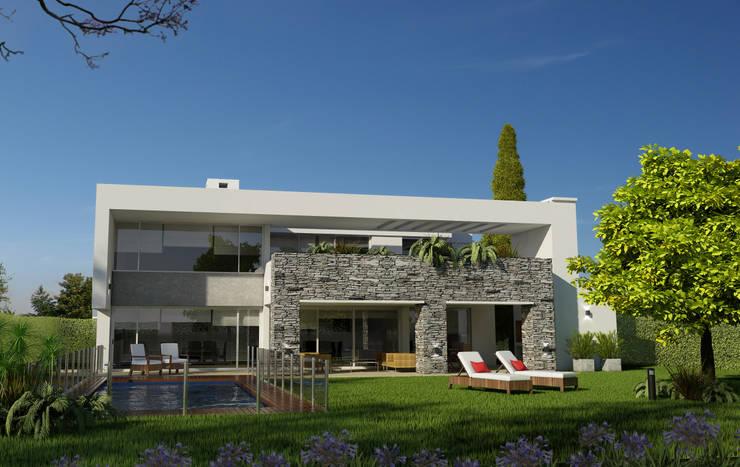 CASA HARAS 3: Casas de estilo  por Muras Oficina de Arquitectura