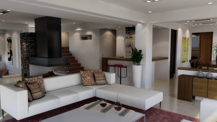 CASA HARAS 3: Livings de estilo  por Muras Oficina de Arquitectura