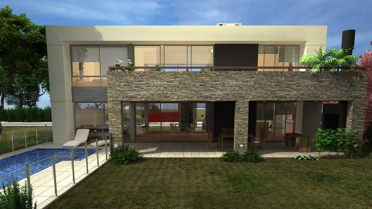 CASA HARAS 4: Casas de estilo  por Muras Oficina de Arquitectura,
