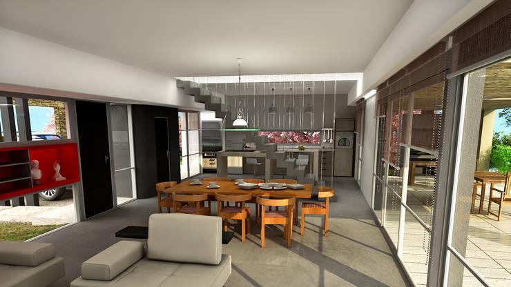 CASA HARAS 4: Livings de estilo  por Muras Oficina de Arquitectura,