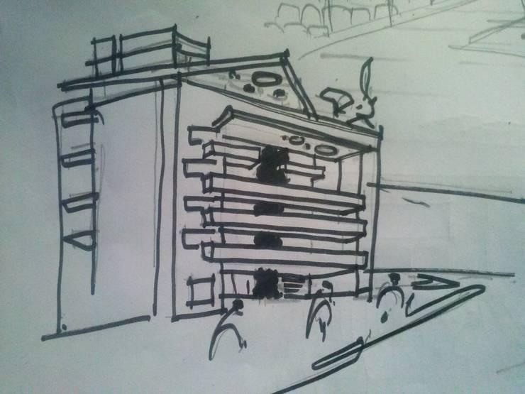 EDIFICIO DORREGO MKT: Casas de estilo  por Muras Oficina de Arquitectura,
