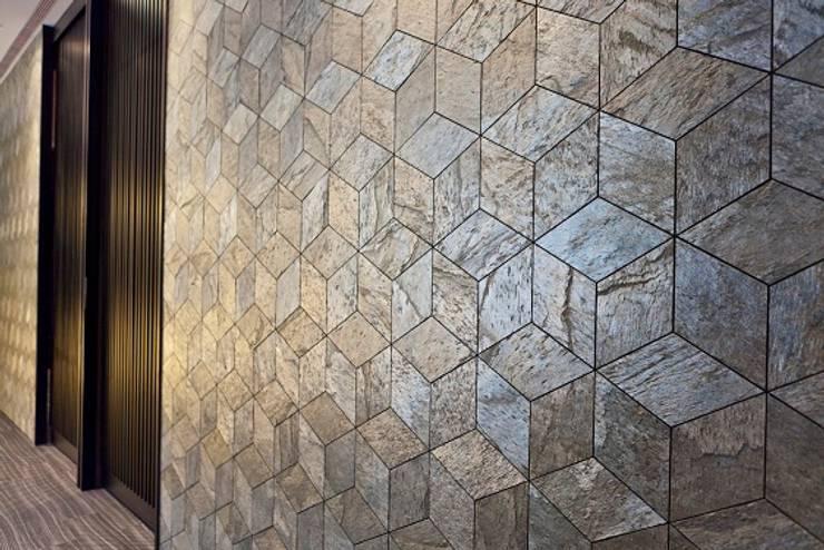 Kamień naturalny cienki jak papier : styl , w kategorii Biurowce zaprojektowany przez Slate Lite,Nowoczesny Kamień