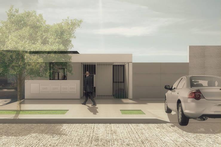 Vivienda Patio: Casas unifamiliares de estilo  por LK ESTUDIO
