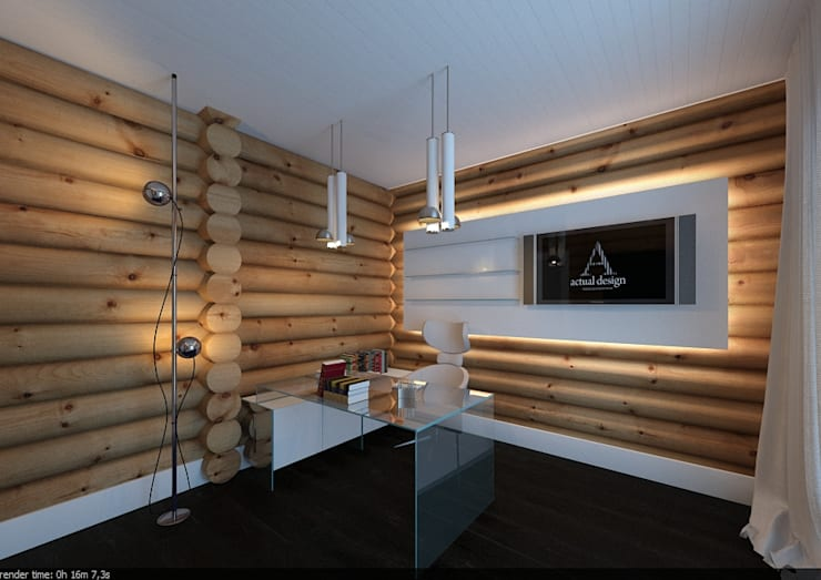 Estudios y despachos de estilo escandinavo por A-partmentdesign studio