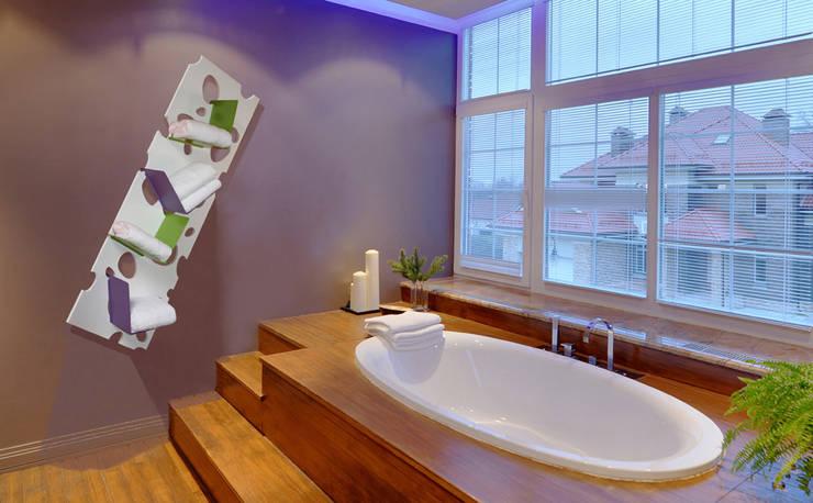 Etagère Galéjade: Salle de bain de style  par BOIS MEUBLE CREATION