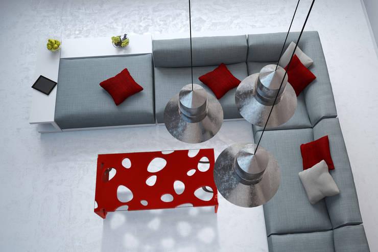 table basse Galéjade: Salon de style  par BOIS MEUBLE CREATION