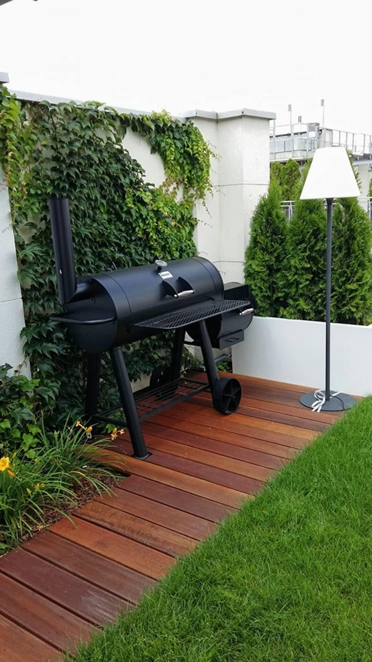 strefa barbecue: styl , w kategorii Taras zaprojektowany przez Ogrodowa Sceneria,Nowoczesny