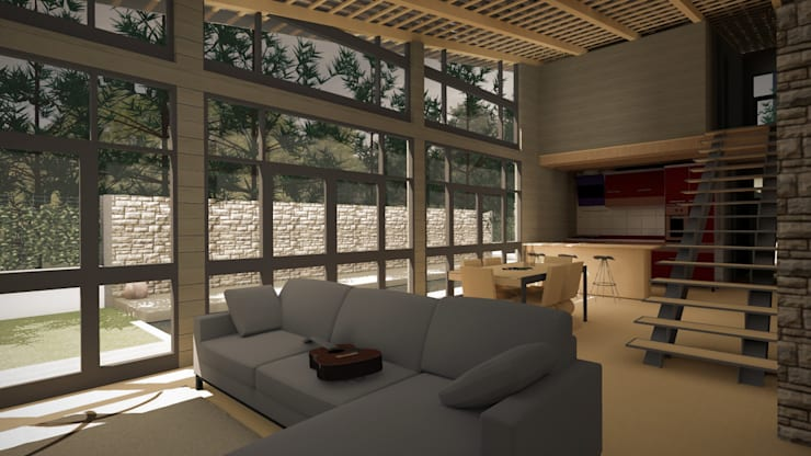 Sala de Estar, Sala de jantar e Cozinha:   por CESaRtelier