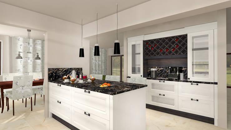 Klasyczna : styl , w kategorii Kuchnia zaprojektowany przez Justyna Kurtz