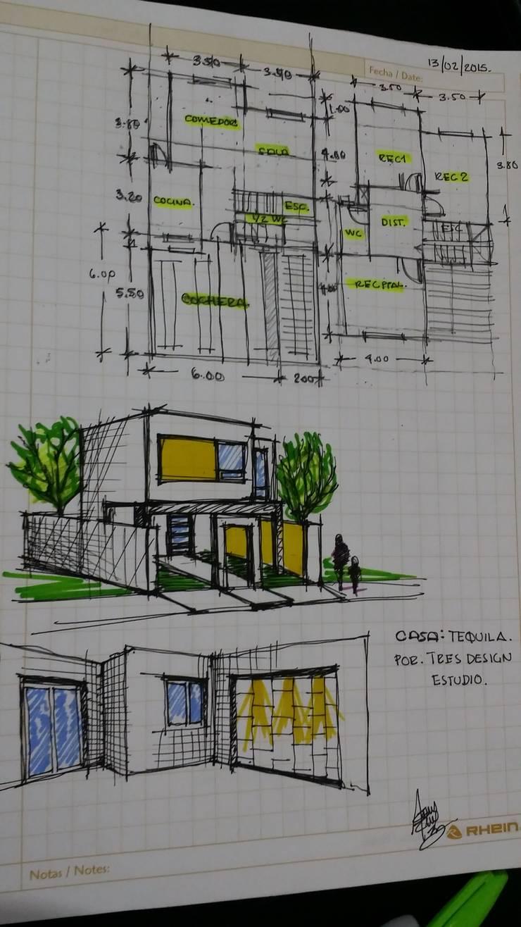 Casa Tequila:  de estilo  por Laboratorio Mexicano de Arquitectura