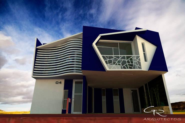 House CUB-48: Casas de estilo  por GT-R Arquitectos
