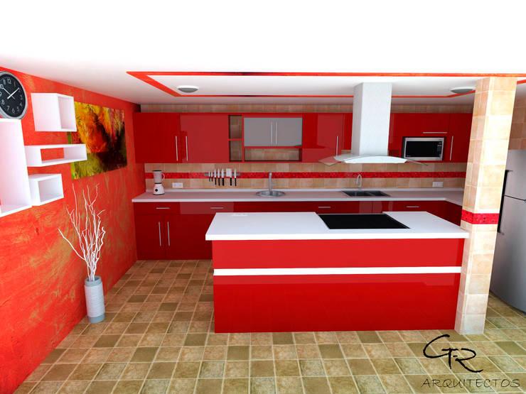 Cocina Espinoza Cocinas modernas de GT-R Arquitectos Moderno