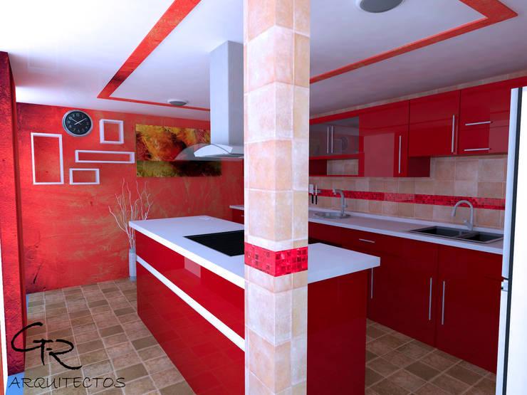 Cocina Espinoza : Cocinas de estilo  por GT-R Arquitectos