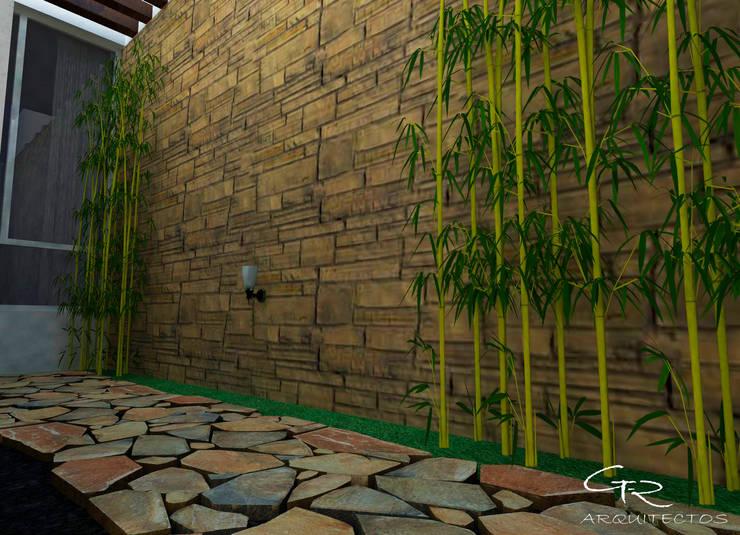 House Mundos Paralelos : Jardines de estilo  por GT-R Arquitectos